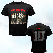 New One Direction 1D Where We Are Tour May-October 2014 black t-shirt