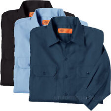 Men's work Shirts Dickies Premium Industrial Long Sleeve Shirt With Flaps LL504