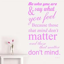 Be Who You Are - Traditional Wall Sticker Quote Decal - Wondrous Wall Art