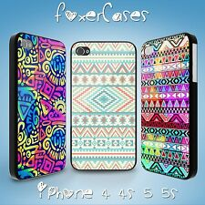 Vintage Fun Aztec Tribal Pattern Hard Case Back Cover for iPhone Samsung Galaxy