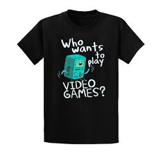 Youth Adventure Time Who Wants To Play custom made Short Sleeve games t shirt