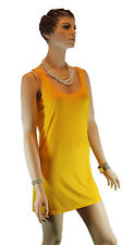 Ladies Esprit Yellow Gold Singlet Top Tunic Top Mini Dress Beach Sun Dress