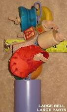 20 HEAVY DUTY Custom BIRD TOYS Free Ship YOU CHOOSE from 2 SIZES 2 TYPES 5 COLOR