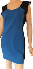 Ladies Cotton On Day Beach Casual Work Party Evening Dress Blue Black