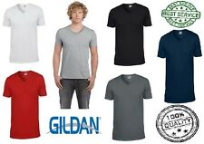 New Men's Gildan Ringspun Soft Style V Neck Soft Touch T Shirt