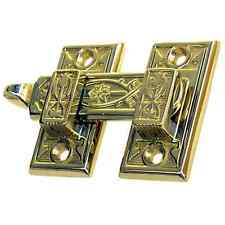 ornate solid brass shutter latch bar 4 finishes
