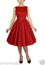 NEW AUDREY VINTAGE 1950's ROCKABILLY SWING EVENING BRIDESMAID PROM PARTY DRESS