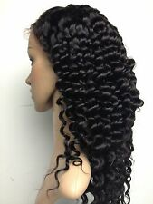 Full / Front lace Wig Deep Wave 100% Indian Remy Human Hair 1# 1B# 2# 4# 1B/30#