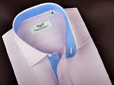Lilac Luxury Twill Business Formal Dress Shirt Blue Boss Fashion Men's Clothing