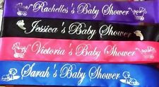 Personalised Name Baby Shower Sashes - writing on Front only $7.95