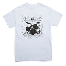 THE PERFECT DRUMMER T-shirt percussionist drum music MEN'S SIZES S-XXL