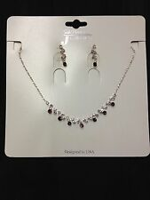 NEW 1103 WEDDING PAGEANT Kid Rhinestone Crystal Necklace Earring Costume Jewelry