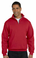 Jerzees Men's NuBlend Quarter Zip Ribbed Cuffs Cadet Collar Sweatshirt. 995M