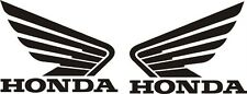 HONDA WINGS  x 2 TANK FAIRING Motorcycle Sticker Decal  Decals 55 Colour Choices