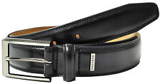 Dockers Leather Dress Belt with Gunmetal Finish Buckle - Black - New w/Tags