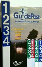 Reflective Address Sign Yard Stake - Your Personalized House Number applied FREE