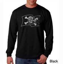 Men's Long Sleeve T-Shirt- Famous Pirate Captains and Ships