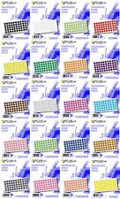 1000 Coloured Dot Stickers Self Adhesive Round Coloured Labels 50mm 5cm Paper