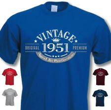 65th Birthday Vintage Year T-Shirt - Funny Novelty Gift Ideas for Men Him - New