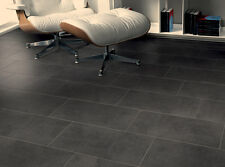 60x30 Black Satin Porcelain Wall Tiles With Adhesive & Grout 15m2-30m2