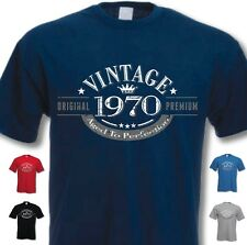 46th Birthday Vintage Year T-Shirt - Funny Novelty Gift Ideas for Men Him - New