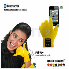 Hello Bluetooth Talking & Touch Screen Phone Gloves Talk to the Hand Headset