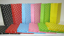 20 PolkaDot Lolly Candy Bags Party Favours Loot Lolly Party Bag - Candy Buffet