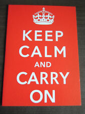 Quality Keep Calm & Carry On Greetings Card Choose - Happy Birthday or Blank