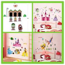 Au Seller 4 Styles LARGE Princess Thomas removable kids Nursery Wall Stickers