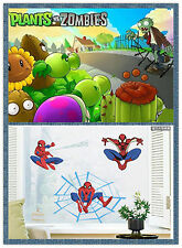 Au Seller Plants Vs Zombies Spiderman Removable kids Nursery Wall Stickers Mural