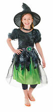 CHILD MYSTERIA THE WITCH COSTUME WITH HAT FOR FANCY DRESS 3 SIZE COMPLETE OUTFIT