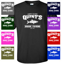 Quint's Shark Fishing Jaws Movie VINTAGE FUNNY MENS T-SHIRT
