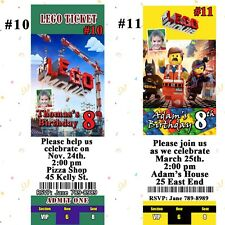 Lego The Movie Birthday Invitation & Thank You Cards Personalized Custom Made