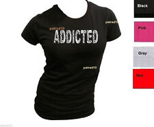 Junior  ADDICTED T-Shirt Fitness exercise Training Gym Body Building Women Shirt