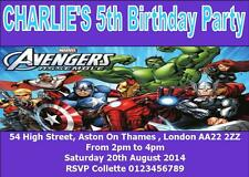 AVENGERS ASSEMBLE PARTY INVITATIONS PERSONALISED Birthday, Envelopes Inc.