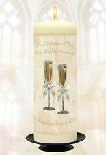 "Personalised 30th Pearl Wedding anniversary 9"" Pillar Candle-Couples Gift Idea"