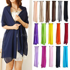 Multiple Long Soft Thin Polyester Scarf Shawl Wrap Lady Birthday Valentine Gift