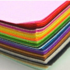 """New 6"""" 12"""" PACK Acrylic Blend Felt Non-woven Fabric Mix Color  10 squares"""
