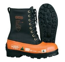New Oregon 537309 Safety CHAINSAW FORESTRY BOOTS Leather Top - Lug Sole