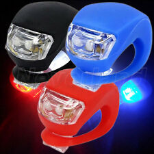 LED Silicone Mountain Bike Bicycle Cycle Head Front Rear Wheel Flash Light Lamp