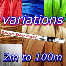 Raffia Paper Ribbon Many Colors,BEST PRICE,Ivory,decorating flowers gifts crafts
