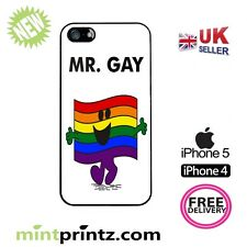 ★ Mr MEN Gay Pride Homosexual ★Case IPH5 iPhone 5 5S & 4 & 4S HARD back COVER ★