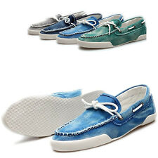 Men's Fashion Casual Boat Shoes Lace Jeans Slip On Canvas Flats Loafer Sneakers