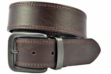 Levi's Genuine Leather Reversible Jeans Double Row Stitch Belt - Black / Brown