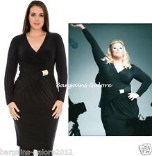 Gemma Collins Style Grecian Jersey Wrap Dress Diamante TOWIE Size 16 18 20 22 24