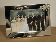 Personalised 6x4 Photo Frame with Crystal Butterfly Wedding Anniversary Gift LS