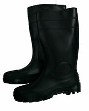 "Men's 16"" Black Rubber Rain / Work Boots"