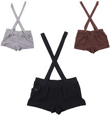 Love By Design Women's Shorts With Suspenders Black Gray Brown S M L