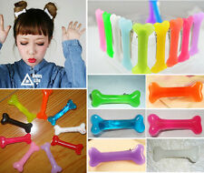 2pcs Lovely Popular Women Gril Vivid Dog Bone Hair Clips Side Hairpin Colorful