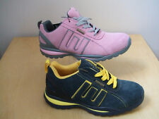 LADIES LIGHTWEIGHT SAFETY WORK BOOTS LEATHER TRAINERS GROUNDWORKS FAB10